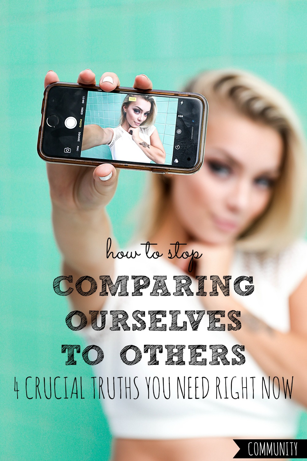 Ever fall into the trap of comparing ourselves to others? It's hard not to! Here are four crucial truths to help you start ending the comparison game TODAY! #comparing #ourselves #to #others #comparison #comparisons #compare #compares #compared #thief #joy #trap