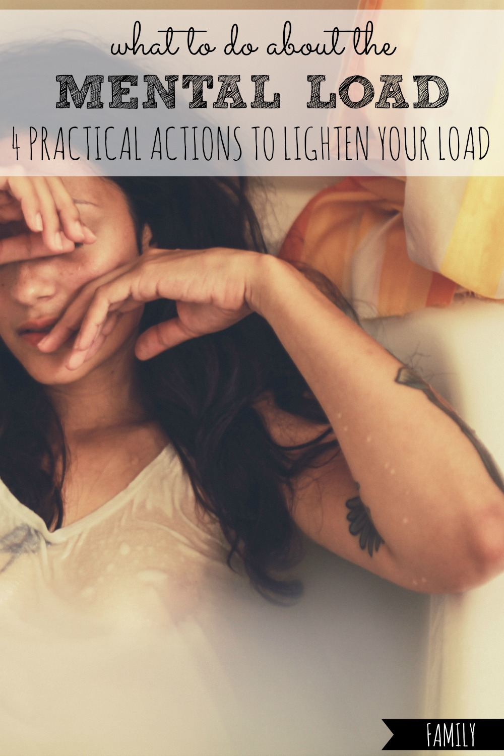 Do you carry your family's mental load by yourself, and feel overworked and overwhelmed? Here are 4 practical actions you can take to lighten that load TODAY! #mental #load #loads #overworked #overwhelmed #overwhelming #overwhelm #lighten #teamwork #share #marriage #team #parent #parents #parenting #parenthood