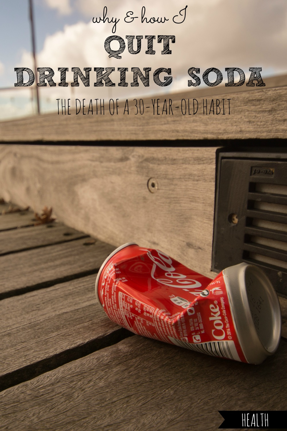 Ever thrown around the idea to quit drinking soda? Here's what finally convinced me to break up with soda after a 30-year-old habit, exactly how I did it, and how you can too! #quit #stop #drinking #soda #sodas #pop #pops #sodapop #cola #colas #coke #dietcoke #sugar #artificial #sweetener #sweeteners #inflammation #inflammatory #reduce #antiinflammatory #diet #sweet #tooth #depression #dehydrated #dehydration #age #aging #antiaging #cold #turkey #substitute #substitution