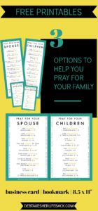 Pray For Your Family Reference Cards