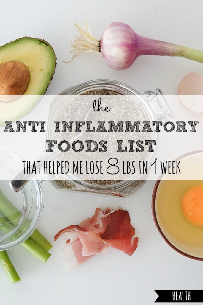The Anti Inflammatory Foods List That Helped Me Lose Eight Pounds in One Week