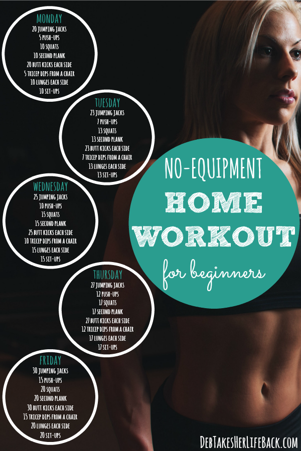 No-Equipment Home Workout For Beginners