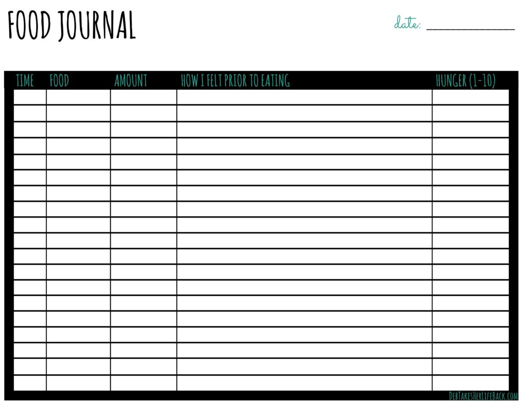 Free Printable Food Journal | Combat Emotional Eating