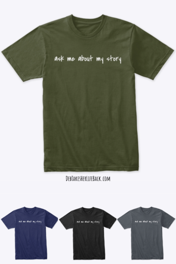Ask Me About My Story Witnessing Tee